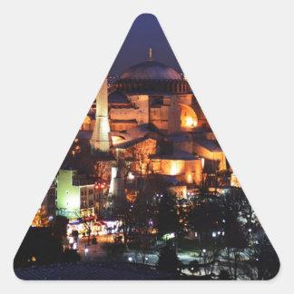 Sticker Triangulaire Nuit de Hagia Sophia