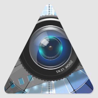 Sticker Triangulaire Objectif de caméra