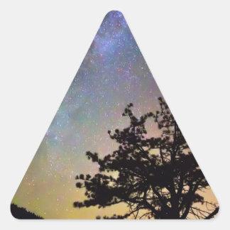 Sticker Triangulaire Obtenez perdu dans l'espace