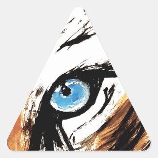 Sticker Triangulaire Oeil de tigre de Bengale