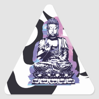 Sticker Triangulaire Ohm Bouddha
