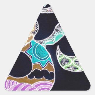 Sticker Triangulaire Omkar au néon