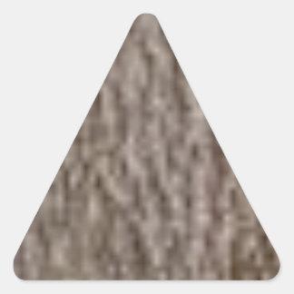 Sticker Triangulaire ondulations de l'écorce blanche