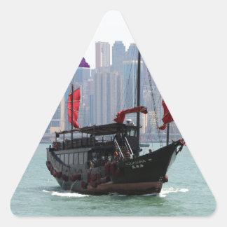 Sticker Triangulaire Ordure chinoise, Hong Kong 2