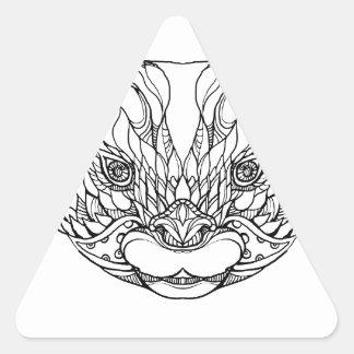 Sticker Triangulaire Oriental De petite taille-a griffé l'art de