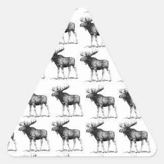Sticker Triangulaire orignaux de répétition d'orignaux
