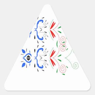 Sticker Triangulaire Ornemente des gens