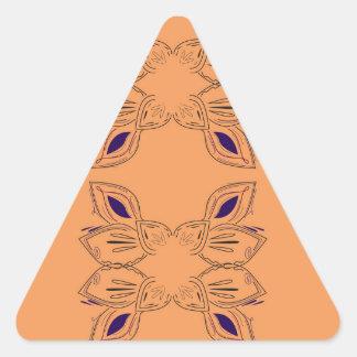Sticker Triangulaire Ornemente le noir beige vintage