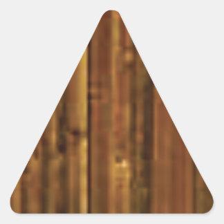 Sticker Triangulaire panneau en bois de brun foncé