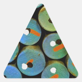 Sticker Triangulaire Paon industriel