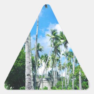 Sticker Triangulaire Paradis dans le Pacifique
