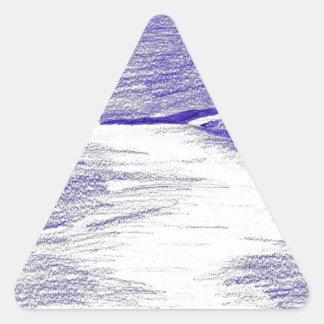 Sticker Triangulaire Paysage marin pourpre