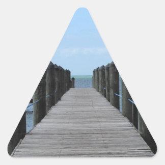 Sticker Triangulaire Pêche allée