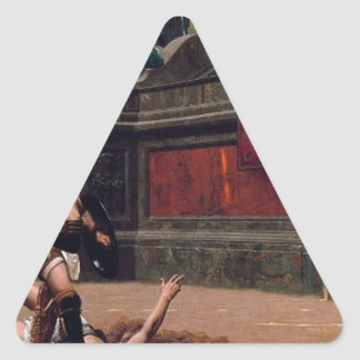 Sticker Triangulaire Peinture de verso de Pollice
