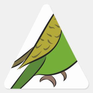 Sticker Triangulaire Perruche