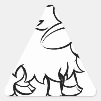 Sticker Triangulaire Personnage de dessin animé de yaks