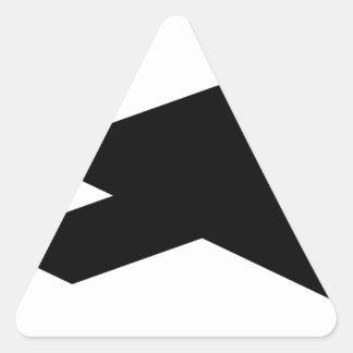 Sticker Triangulaire Personne courante de Tangram
