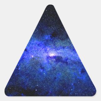 Sticker Triangulaire Photo de l'espace de galaxie de manière laiteuse