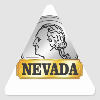 Sticker Triangulaire pièce de monnaie du Nevada