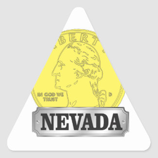 Sticker Triangulaire Pièce d'or du Nevada