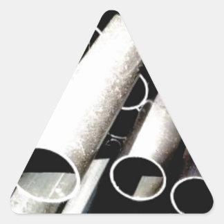 Sticker Triangulaire pile de tubes en métal