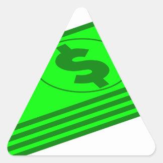Sticker Triangulaire Piles d'argent liquide