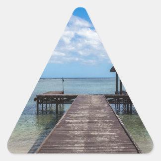 Sticker Triangulaire Pilier dans le flac flic îles Maurice d'en d'océan