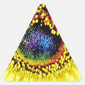 Sticker Triangulaire Plan rapproché jaune