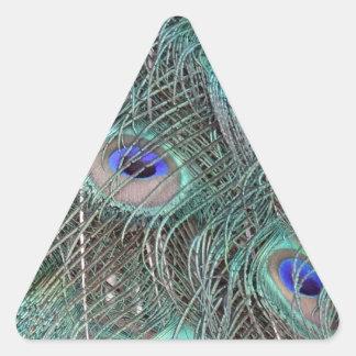 Sticker Triangulaire plumes de paon