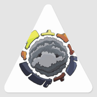 Sticker Triangulaire pollution