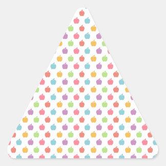 Sticker Triangulaire Pommes colorées