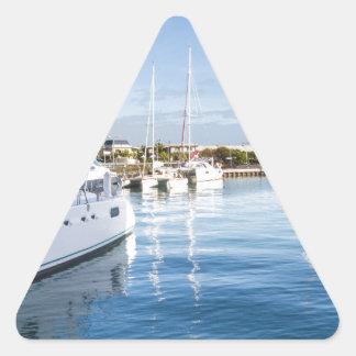 Sticker Triangulaire port de la capitale de Port-Louis des Îles Maurice