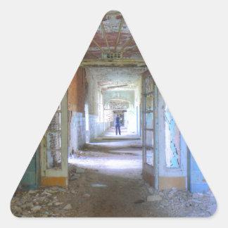 Sticker Triangulaire Portes et couloirs 03,0, endroits perdus, Beelitz