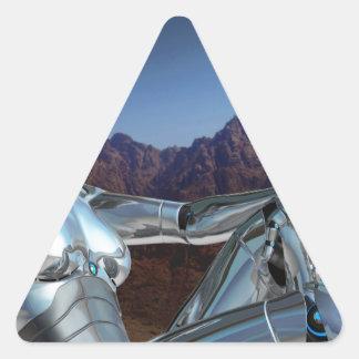 Sticker Triangulaire Portrait d'une mémoire