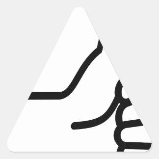 Sticker Triangulaire Pouces