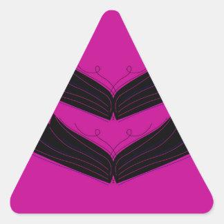 Sticker Triangulaire Pourpre artistique de noir d'ailes