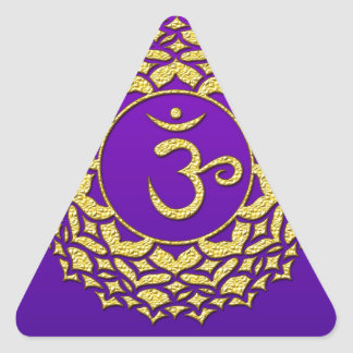 Sticker Triangulaire Pourpre de Chakra de couronne