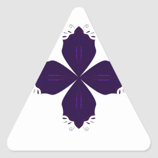 Sticker Triangulaire Pourpre de Lotus sur le blanc