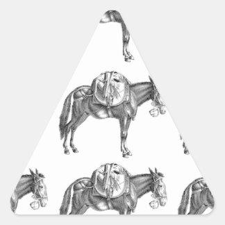Sticker Triangulaire prière de mule de paquet