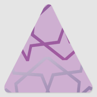 Sticker Triangulaire Profil sous convention astérisque abstrait inspiré