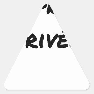 Sticker Triangulaire Propriété Privée - Jeux de Mots - Francois Ville