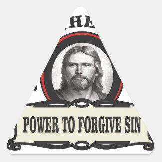 Sticker Triangulaire puissance de pardonner le jc de péché