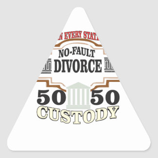 Sticker Triangulaire réduisez la garde 50 50 automatique de divorces
