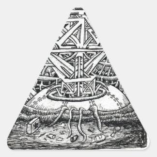 Sticker Triangulaire Réservoir de tentacule par Brian Benson