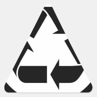 Sticker Triangulaire Réutilisez le symbole