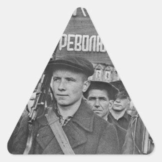Sticker Triangulaire Révolution d'octobre