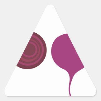 Sticker Triangulaire Rose de vegies de conception sur le blanc