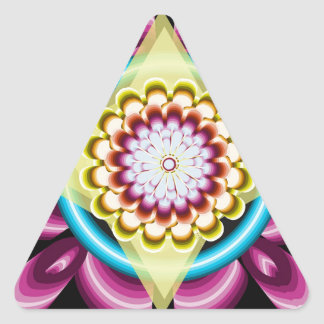 Sticker Triangulaire Rotations florales