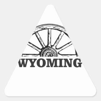 Sticker Triangulaire roue du Wyoming