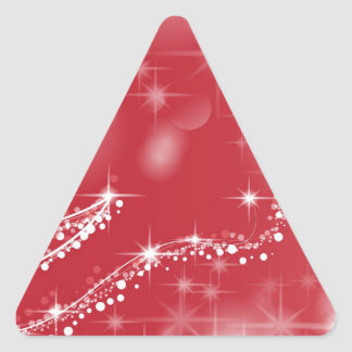 Sticker Triangulaire Rouge de faveur de Noël